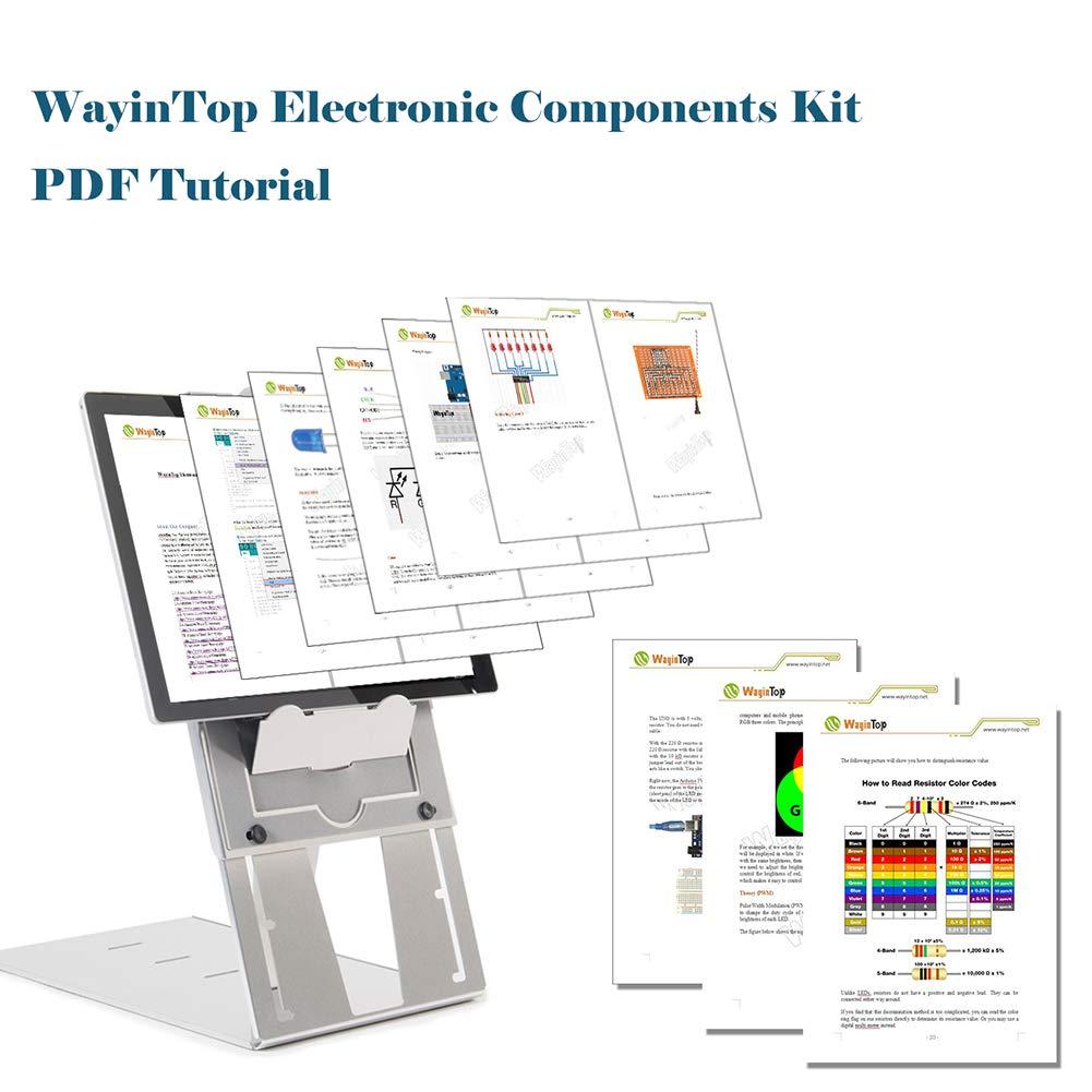 WayinTop Electronics Component Fun Kit w/E-Book, kit de inicio ...