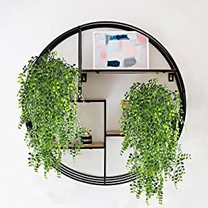 HOGADO 2pcs Artificial Ivy Fake Hanging Vine Plants Decor Plastic Greenery for Home Wall Indoor Outdside Hanging Basket 3