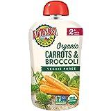 Earth's Best 2段蔬果泥,胡萝卜和西兰花,3.5盎司(99克),12支(包装以实物为准)