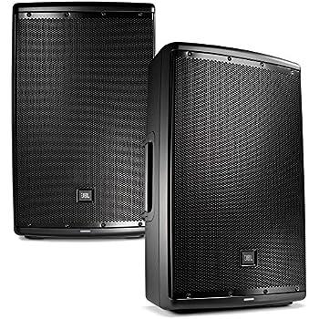 jbl eon 615 15 in powered pa speaker pair bundle musical instruments. Black Bedroom Furniture Sets. Home Design Ideas