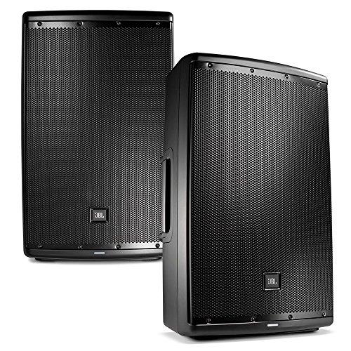 JBL EON 615 15 in Powered PA Speaker Pair Bundle