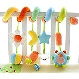 Shiloh Baby Activity Spiral Wrap Around Crib Bed Bassinet Stroller Rail Decorations Toy (Garden)