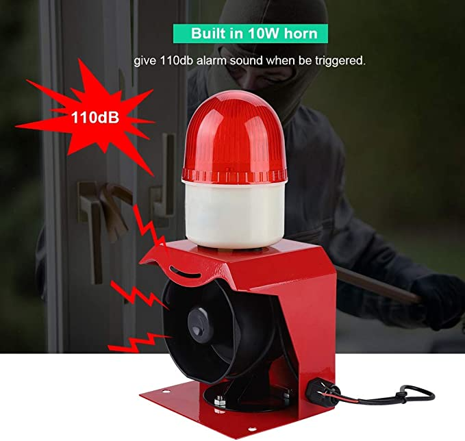110dB 15W 12V Super laut Alarm Horn Alarmsirene Alarm-Sirene Alarmanlage Horn