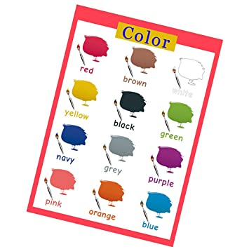 baoblaze kids learning wall charts words pictures poster preschool