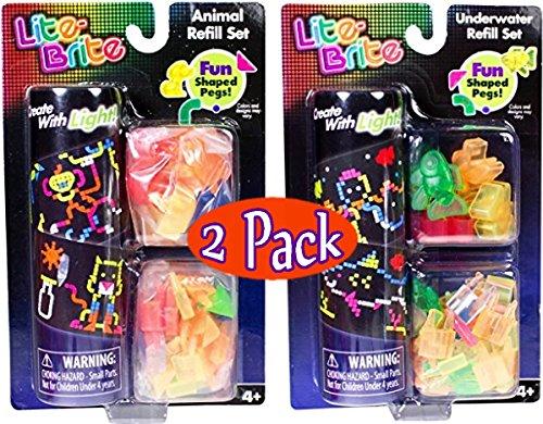 lite-brite-animal-underwater-refill-packs-gift-set-bundle-2-pack