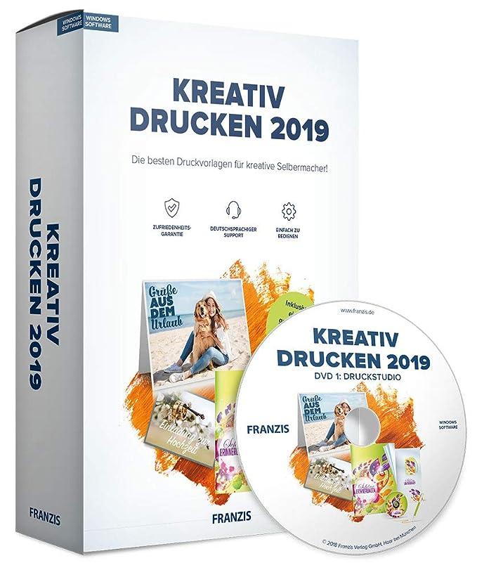 Franzis Kreativ Drucken 2019 2019 Offline Nutzbar Ohne Abo Für Pc Windows 10 8 1 8 7 Disc Disc