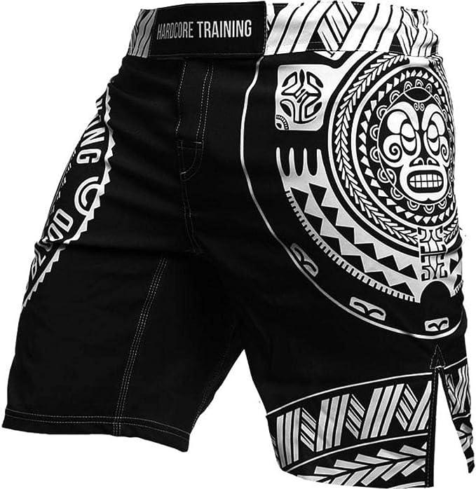 Cage Sport MMA UFC MMA BJJ Fitness dentrainement Homme Hardcore Training Fight Shorts Ta Moko Black
