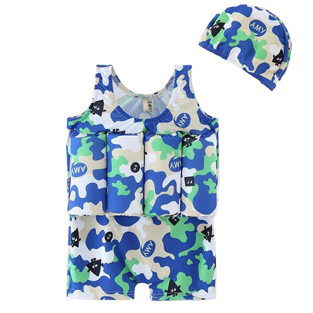 最低価格の A & I AiLiKeフロートスーツ調節可能な浮力Bathing I Suit with B07D54K6L9 Cap for Kids Children Kids Height:80cm/31.50\ 迷彩 B07D54K6L9, 自然絆ショップ:c10f991d --- 4x4.lt