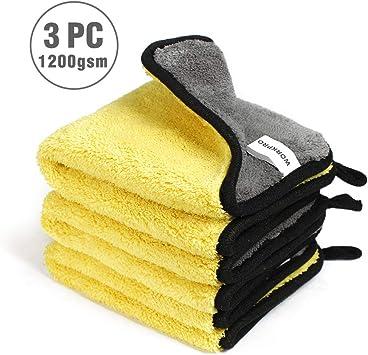 1 Ultra Absorbant Voiture Laver Serviette Tissu Épaissie Pad Cire Polissage Haut