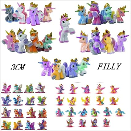 JEWH Simba Filly Butterfly Witchy - Unicorn Toy - Mini Horses -Kids Animal Action Dolls