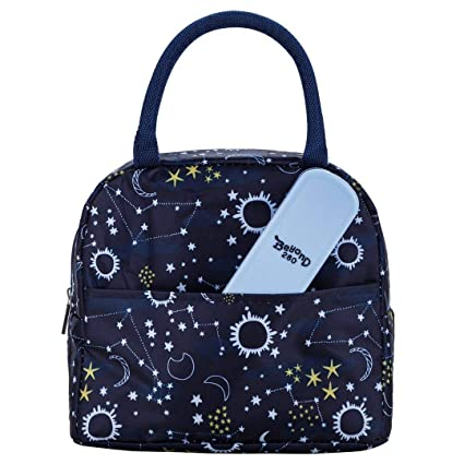 Beyond280 Stylish Lunch Bag for Women/Girls |Cute Insulated Lunch Organizer  | Great for Work/School/Outdoor (Black)