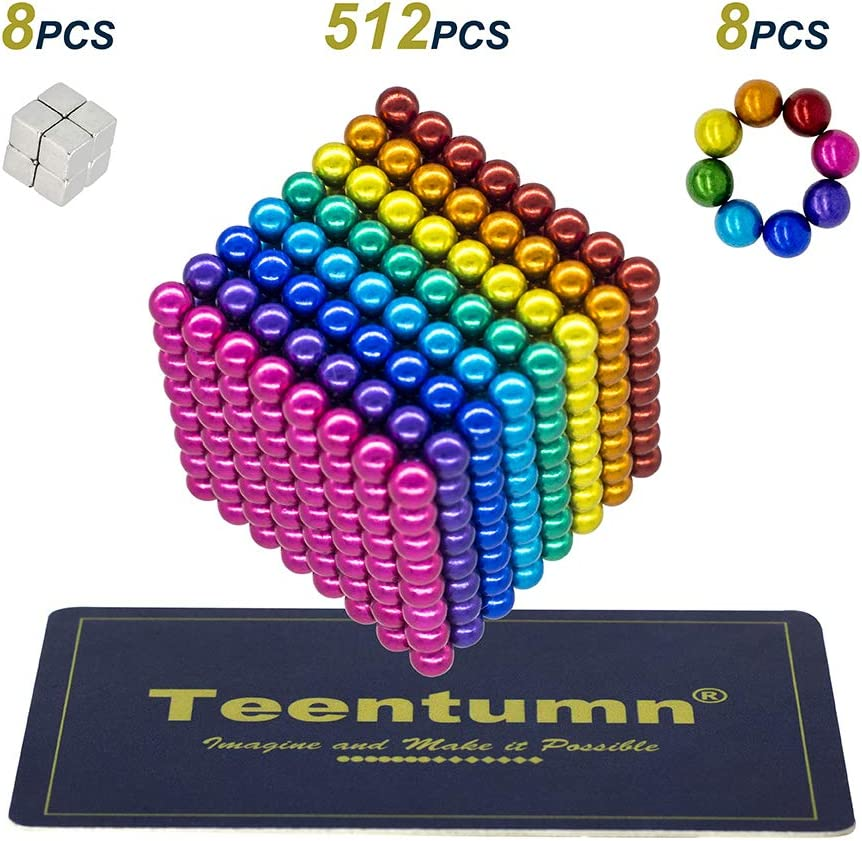 Colorful Office Toy /& Stress Relief for Adults Teentumn 528 Pieces 5mm Sculpture Building Blocks Toys for Intelligence Learning