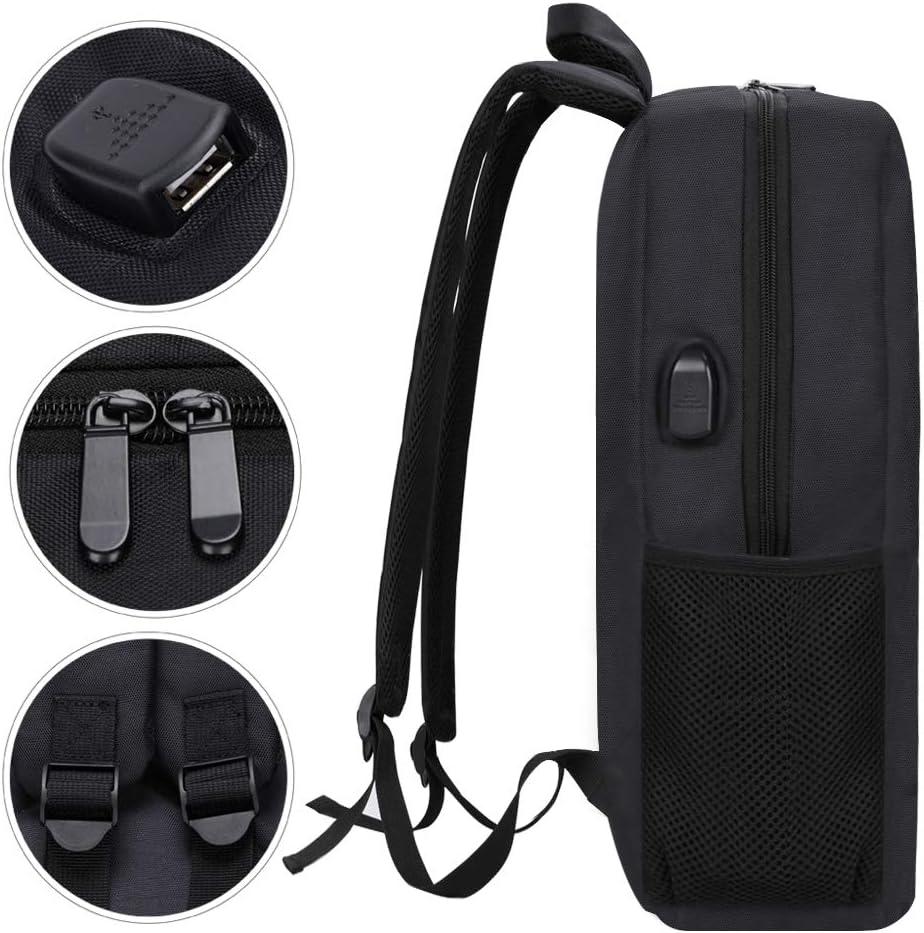 Seven Deadly Sins Lion Pride Backpack Daypack Rucksack Laptop Shoulder Bag with USB Charging Port