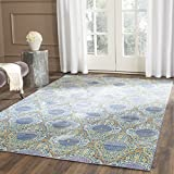 Safavieh Valencia Collection VAL106L Lavender and Gold Vintage Distressed Silky Polyester Area Rug (2' x 3')