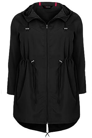 Yours Clothing Women/'s Plus Size Twill Parka Coat