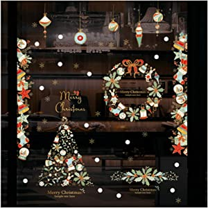 Viminston Christmas Decoration Removable Stickers Snowflakes, Window Glass Decoration Stickers 2020 for Christmas Décor Wall Ornaments Christmas Party DIY Supplies Home,Office,New Year