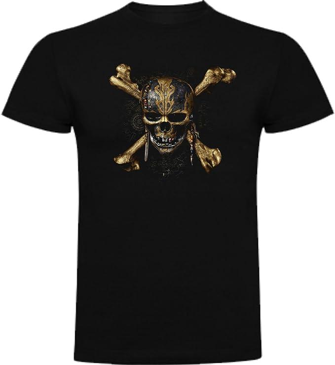 The Fan Tee Camiseta de Hombre Piratas del Caribe Jack Sparrow: Amazon.es: Ropa y accesorios