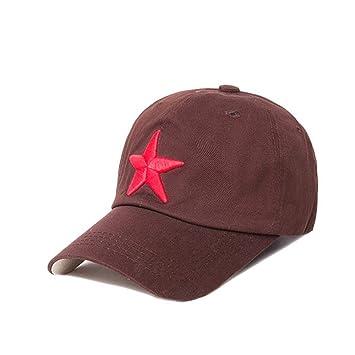 Gorras de béisbol,Otoño de gorras para Hombres Mujeres Estrella Five-Pointed Sombreros bordados