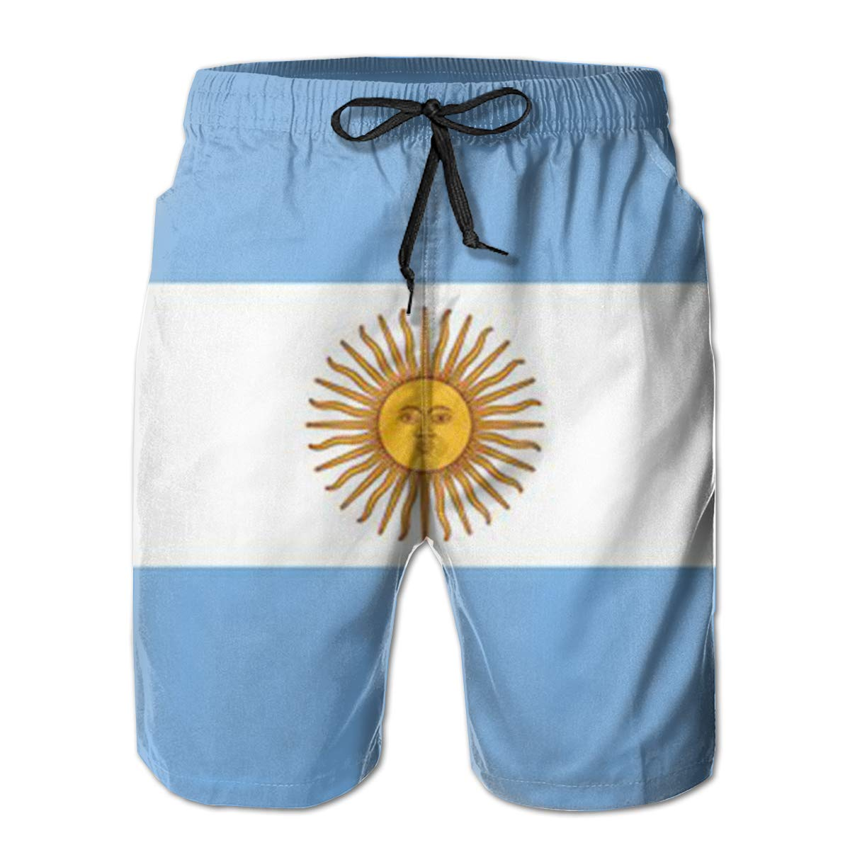 Wexzss Argentina Country Flag Funny Summer Quick-Drying Swim Trunks Beach Shorts Cargo Shorts