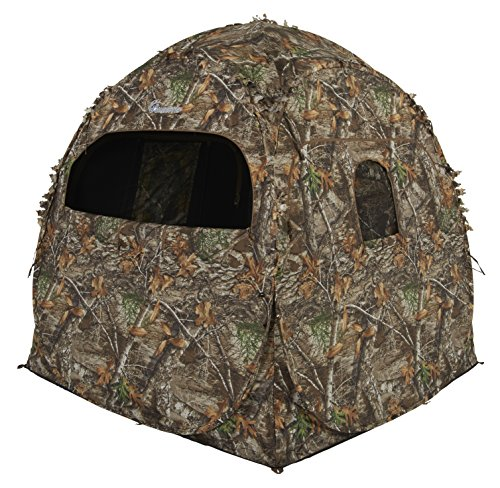- Ameristep Doghouse Ground Blind, Two Man Hunting Blind in Realtree Edge Camo