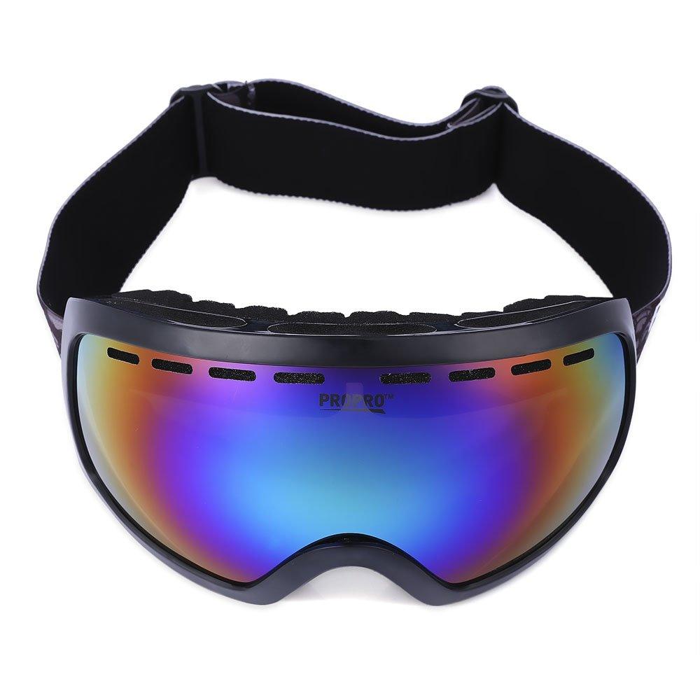SHUFAGN,Unisex UV-Schutz Windproof Lens Snowboarding Skibrille Eyewear(Color:SCHWARZ)