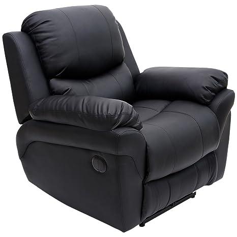 Tremendous More4Homes Tm Madison Electric Bonded Leather Automatic Recliner Armchair Sofa Home Lounge Chair Black Spiritservingveterans Wood Chair Design Ideas Spiritservingveteransorg