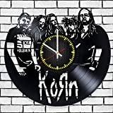 Vinyl record wall clock Korn, Korn decal, wall poster For Sale