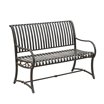 Fine Amazon Com Slate Metal Bench Simple And Versatile Bralicious Painted Fabric Chair Ideas Braliciousco