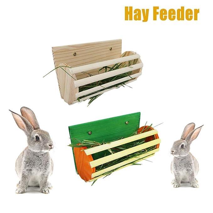Comedero para heno, jaula para mascotas, estante para heno, fácil ...