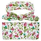 Bigface Up Set of 1 or 3 Swaddle Sack,Newborn Baby Sleep Blanket With Headband rose red