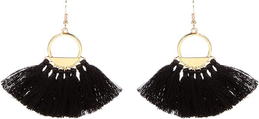 Unique Bohemian Handmade Tassel Drop Earrings |Indian Jewelry Earrings Ethnic Earrings Festive Occasion Earrings for WomenGirls