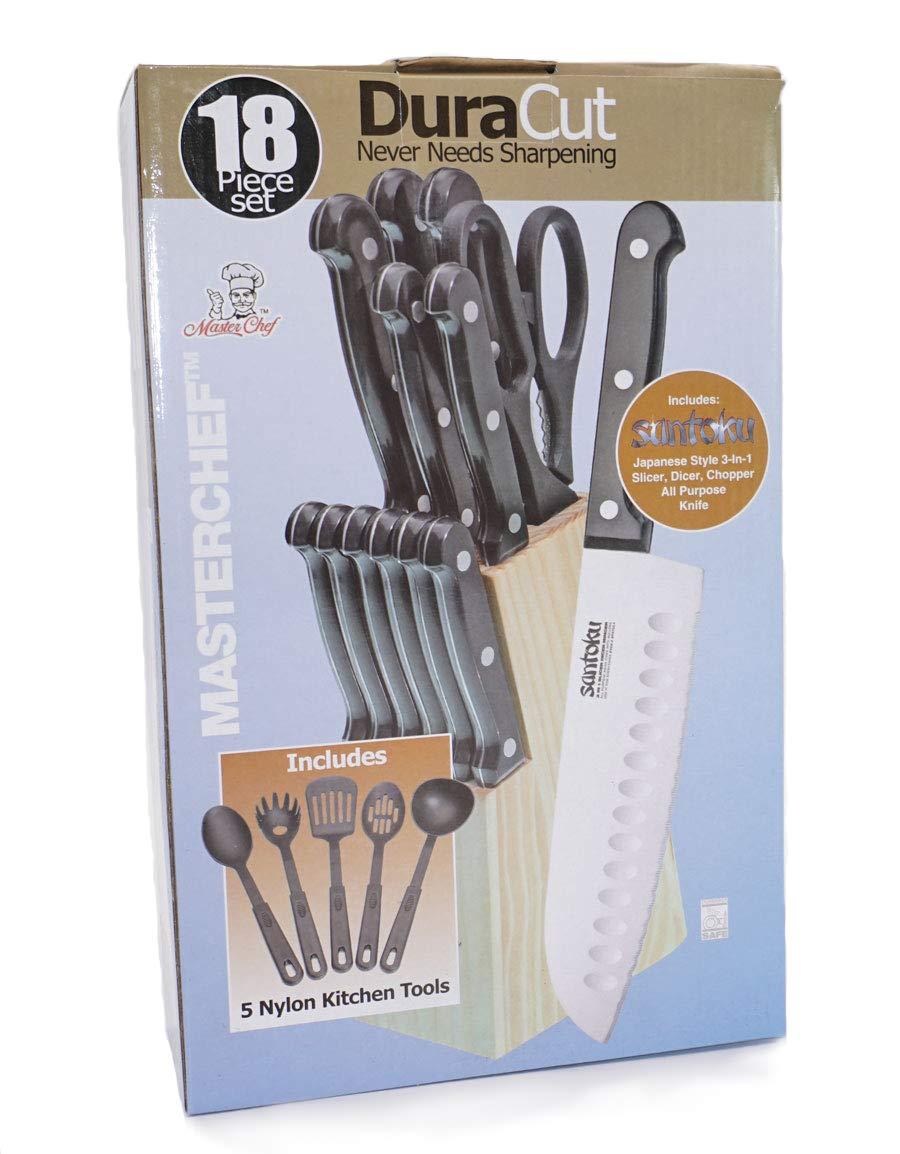Amazon.com: MasterChef 18-piece duracut Juego de cuchillos ...