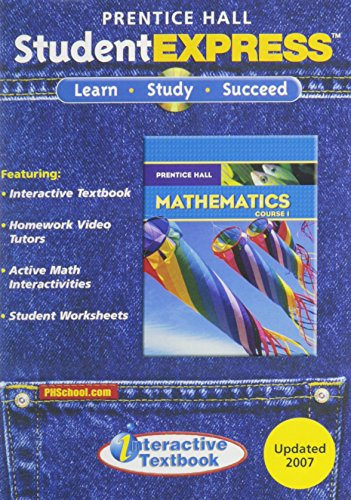 PRENTICE HALL MATH COURSE 1 STUDENT EXPRESS CD-ROM