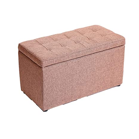 Amazon.com: Sofa Stool Storage Box Seat Cushion Chair Wooden ...