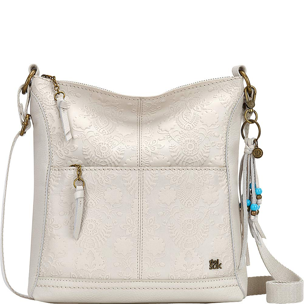 The Sak Women's Lucia Crossbody Stone Floral Embossed One Size