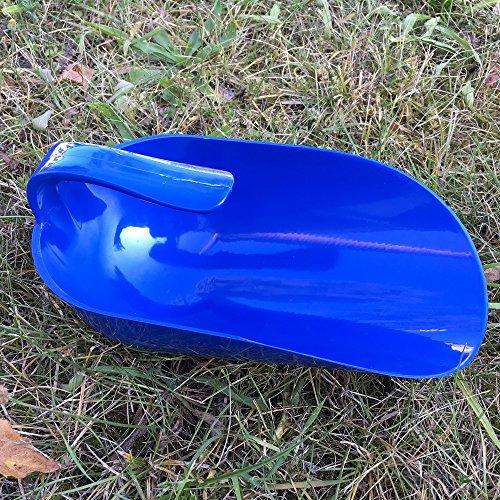 GEWA Futterschaufel mit Innengriff 1 Liter halbrund optimal bei Säcken versch. Farben, Farbe:dunkelblau