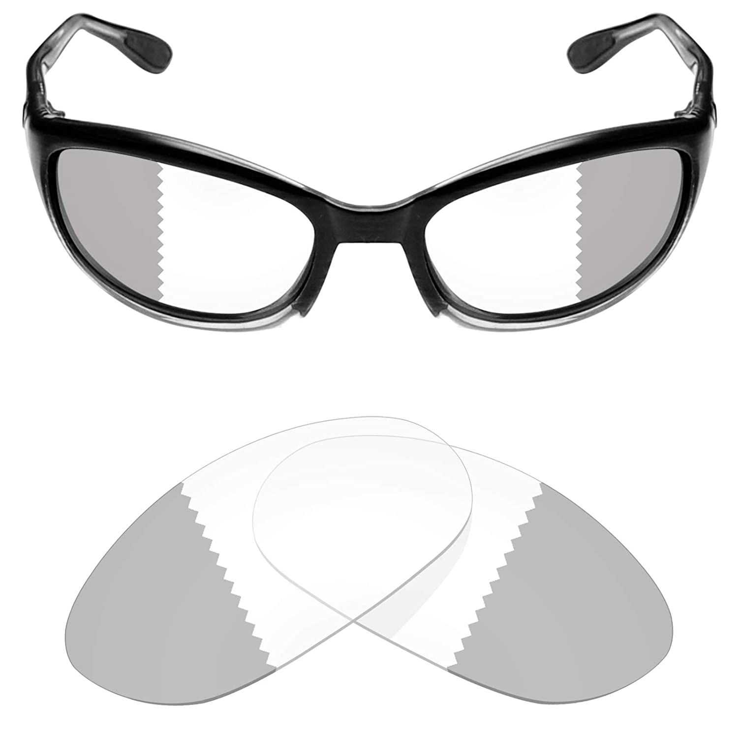 355f1d16cc9c Mryok UV400 Replacement Lenses for Del Mar Harpoon - Eclipse Grey  Photochromic at Amazon Men's Clothing store: