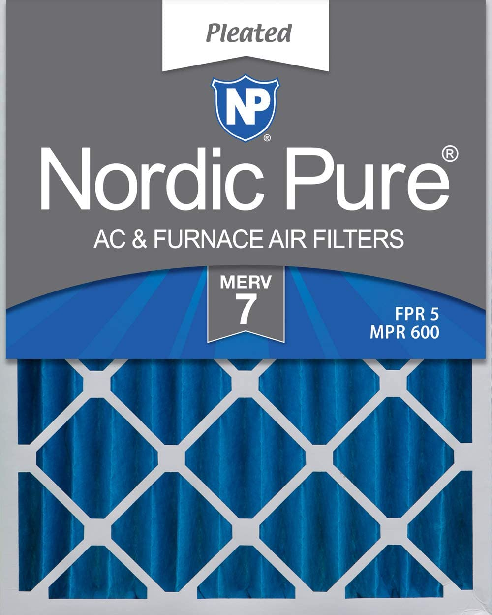 Nordic Pure 22x36x1 MERV 12 Pleated AC Furnace Air Filters 6 Pack