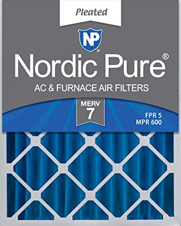 Nordic Pure 14x28x1 Exact MERV 8 Pleated AC Furnace Air Filters 2 Pack