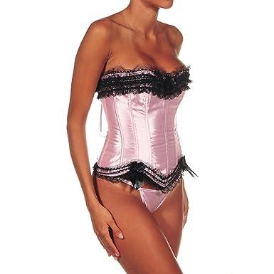 Intimax corsets lencería y moda Pink Girl Bustier, Rosa, XXL para ...
