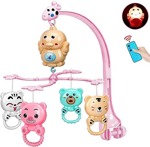 ZEHYRFGK Baby Crib Mobile, Sonajeros Colgantes Y Caja De Música ...