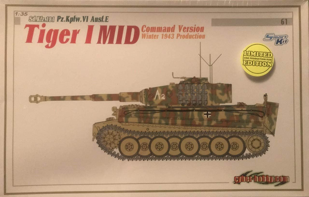 1:35 Sd.Kfz.181 Pz.Kpfw.VI Ausf.E Tiger I MID Command Version Winter 1943 Production