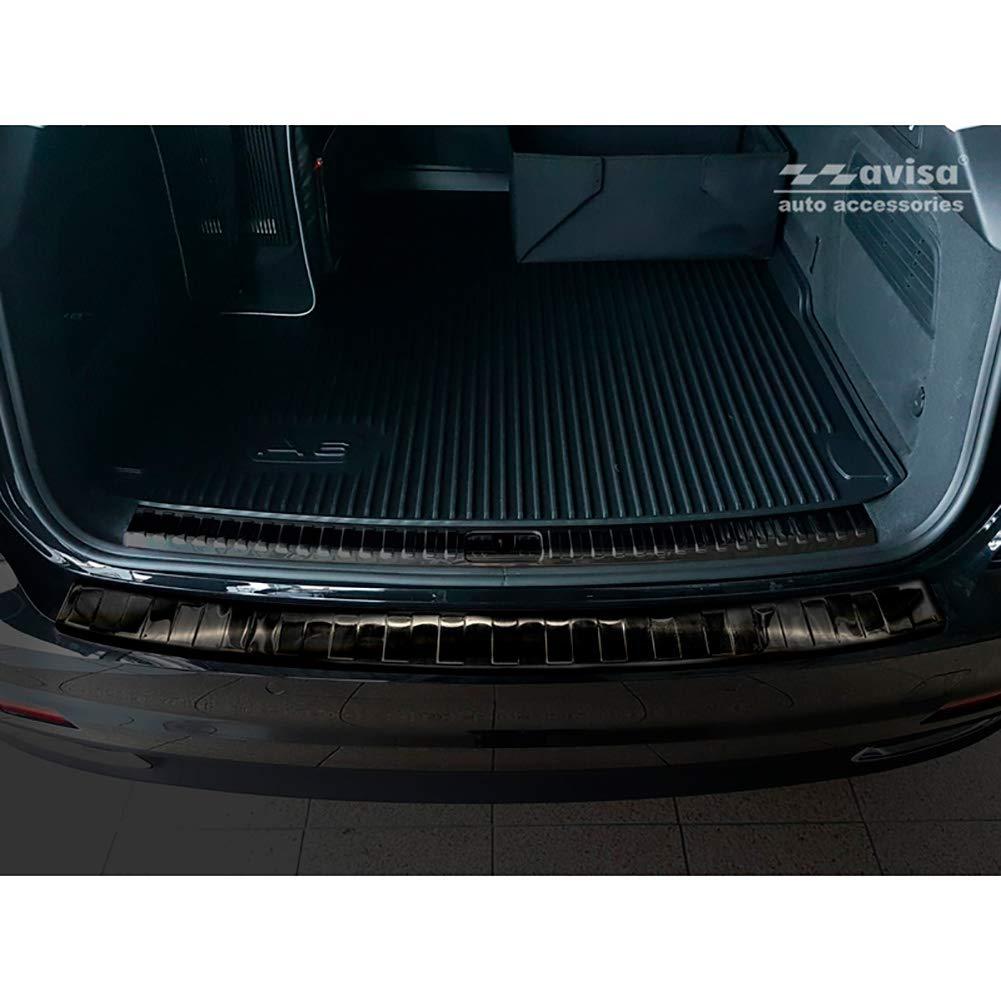 Sportback 2018-Ribs Avisa 2//35467 Stainless Steel Rear Bumper Protector Audi A1 GB