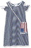 Bonnie Jean Little Girls' Americana Dress, Blue Stipe Handbag, 5