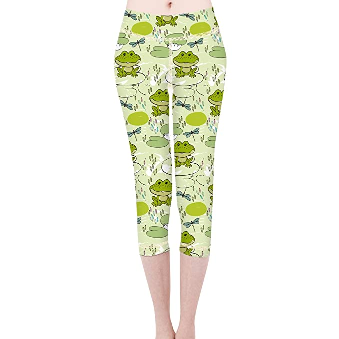 Amazon.com: Womens Small Pond Frog Dragonfly Wide Waistband ...