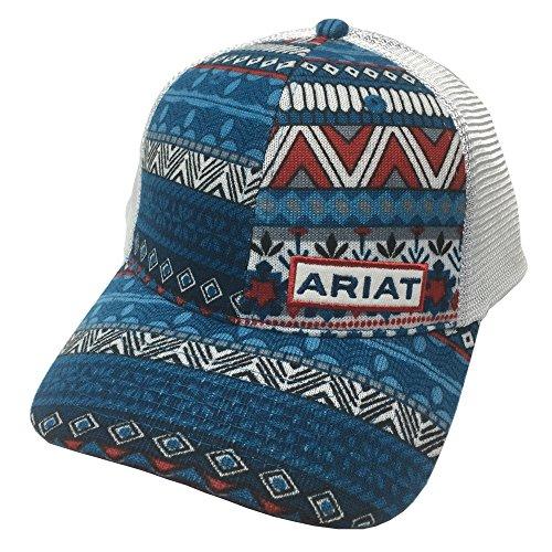 ARIAT Women's Snap Back Baseball Cap, Red, White, Blue, OS