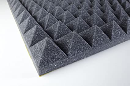 paneles de absorción de sonido PUPIR50ad piramidal adhesivo