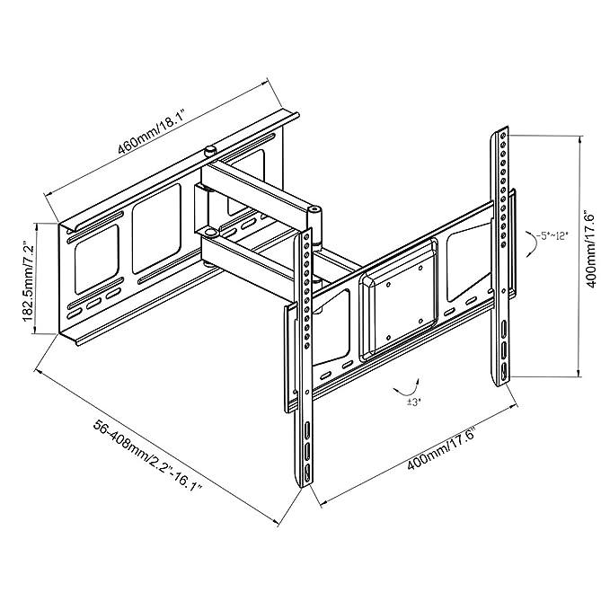 amazon fleximounts v2 full motion swivel tilt and rotate tv 70 Inch Monitor amazon fleximounts v2 full motion swivel tilt and rotate tv wall mount fits for most of 32 50 lcd led tv home kitchen