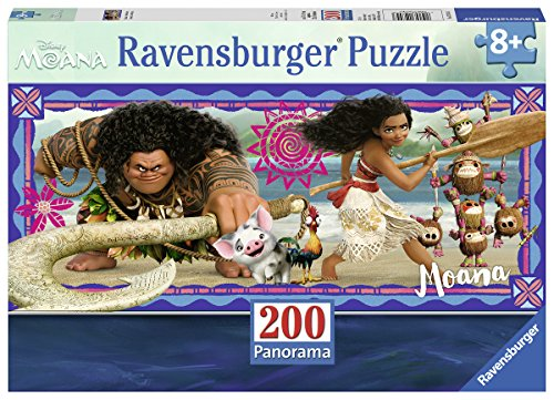 Ravensburger Disney Moana - Moanas Adventure 200 Piece Jigsaw Puzzle for Kids - Every Piece is Unique, Pieces Fit Together Perfectly