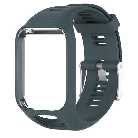 Watchbands silicona Reemplazo Banda de Muñeca Correa para TomTom Golfista Adventurer/2 Reloj GPS, Runner 2/3 Sport reloj GPS, Spark/3 Deporte GPS reloj: ...